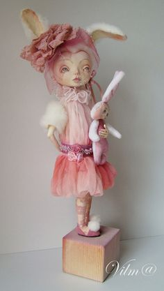 OOAK Art Doll My Sweet Bunny