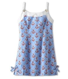 Lilly Pulitzer Kids Little Delia Dress (Little Kids/Big Kids) Low Tide Blue/Anchors Away - Zappos.com Free Shipping BOTH Ways