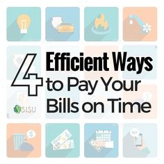 Are you living in financial chaos? Check out our 4 efficient ways to pay your bill on time and experience financial freedom!  #FinancialPeace!