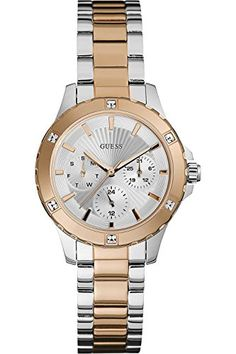 8f6351bc3fb GUESS W0443L4,Ladies Two Tones With Rose Gold,Multi-Function,Stainless Steel