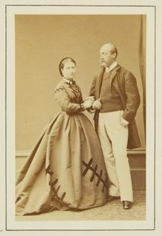 Princess Helena of the United Kingdom & Prince Christian of Schleswig-Holstein in December 1865 (they became engaged in early December 1865) (Royal Collection)