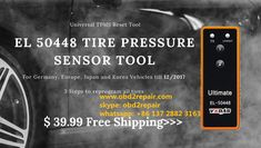 VXDAS EL 50448 is the universal tpms reset tool for Germany, Europe, Japan and Korea vehicles till tpms relearn tool is easy to use can help you reprogram all tires much easier just with 3 steps on each tire. Programming Tools, Car, Automobile, Vehicles, Cars
