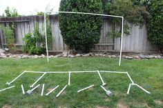 Using screen material and some PVC pipes, you can create your own backyard movie screen to entertain everyone.