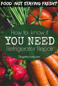 Refrigerator Not Cooling? When to Get Home Appliance Repair. Helpful tips to try if your food is going bad or your fridge isn't getting cold. #DIY #home #food