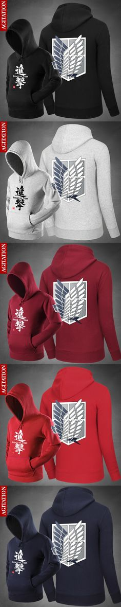 Hot Attack on Titan the Wings of Freedom Hoodies Hoody Pullover  Sweatshirts Loose Outerwear Cute Unisex Spring Coat