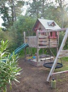 spielturm aus holz mit rutsche schaukel sandkasten kletterturm kletterger st neu ebay kind. Black Bedroom Furniture Sets. Home Design Ideas