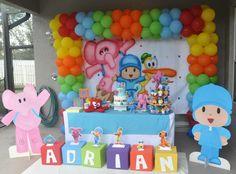 Pocoyó Party Baby Girl Birthday Decorations, 2nd Birthday Party Themes, Birthday Centerpieces, 1st Boy Birthday, First Birthday Parties, Minnie Mouse 1st Birthday, Thing 1, 1st Birthdays, 1 Year