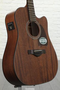Acoustic Guitar with Solid Mahogany Top, Mahogany Back and Sides, Mahogany Neck, and Rosewood Fingerboard - Open Pore Natural Best Acoustic Electric Guitar, Epiphone Acoustic Guitar, Black Acoustic Guitar, Guitar Art, Fender Guitars, Electric Guitars, Music Studio Room, Guitar Photography, Guitars For Sale