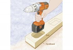 Even cordless drills designed to stand upright on their battery packs will easily tip over.