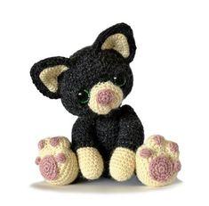 Kätzchen-Katze Amigurumi Häkelanleitung PDF von PatchworkMoose