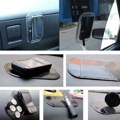 Transparent Non-slip Car Mat Pad Cusion for Phone Pen Glass Coin