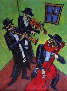 Klezmer Musicians by Lili Fijalkowska.