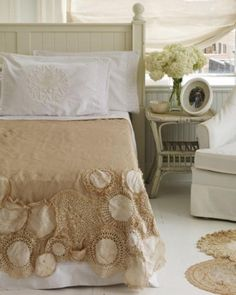 lace doily bed cover