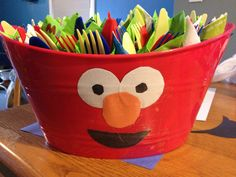 Auto draft coolest diy elmo bowls from the dollar tree for sesame street birthday - Savvy Ways About Things Can Teach Us Elmo First Birthday, Boy Birthday Parties, Birthday Ideas, Carnival Games For Kids, Diy Carnival, Sesame Street Party, Sesame Street Birthday Party Ideas, Sesame Street Games, Cookie Monster Party