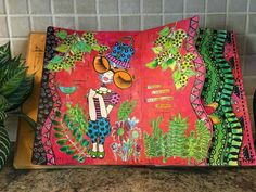 """Pat Kozak on THE DYAN REAVELEY SOCIETY OF ART JOURNALING Gateway Group. Used the new """"Oodles of Foliage"""" stamp. Done in my Dylusion journal."""