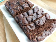 Double chocolate banana pudding loaf