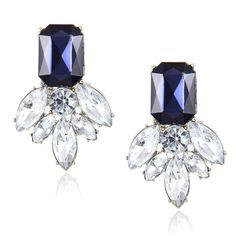 c12a9fa8d Earrings Studs brincos Cute Flower Pendientes Stone Black Crystal Earrings  Party
