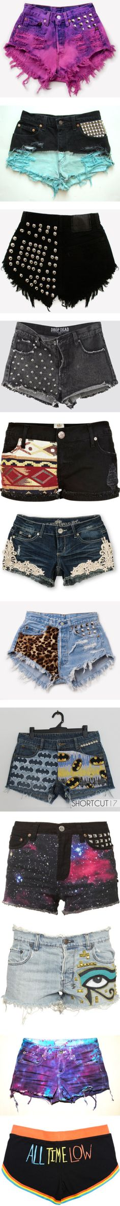 """shorts"" by nicolettestarzz ❤ liked on Polyvore"