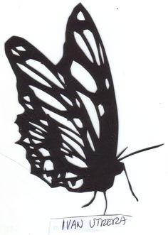 mariposa papercut