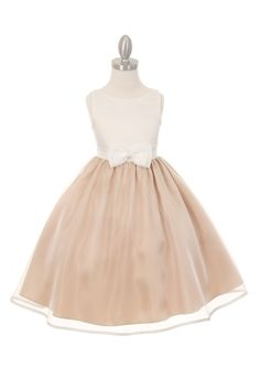 2ba44918717 Sweet Ivory and Champane Shimmer Spring Flower Girl DressThis Ivory   Champagne  Flower Girl Dress is