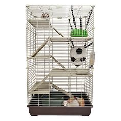 Marshall Penthouse II Ferret Cage at PetSmart. Shop all small pet cages online Ferret Cage, Pet Ferret, Cat Cages, Chinchilla, Rabbit Life, Pet Rabbit, Cute Ferrets, Animal Room, Exotic Pets