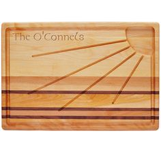 This durable hand made wood board is the perfect gift and with the ability to personalize it with a name makes it that more special.