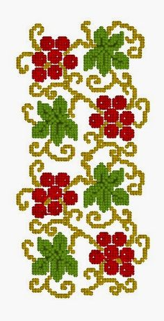 broderie-embroidery: February 2015 Cross Stitch Borders, Cross Stitch Samplers, Cross Stitch Flowers, Cross Stitching, Cross Stitch Patterns, Crochet Patterns, Folk Embroidery, Cross Stitch Embroidery, Embroidery Designs