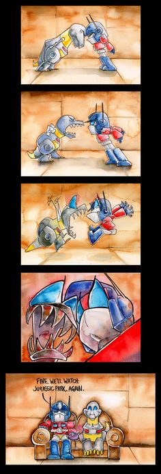 Grimlock vs. Prime by The-Starhorse.deviantart.com on @deviantART