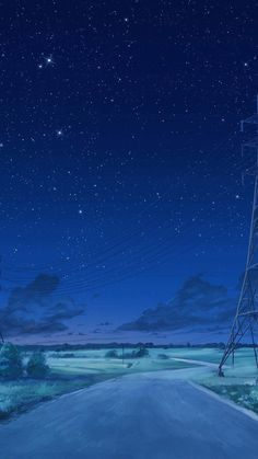 Arseniy Chebynkin Night Sky Star Blue Illustration Art Anime Android wallpaper background for Android. Anime Night, Sky Anime, Blue Anime, Wallpaper Animes, Anime Scenery Wallpaper, Night Sky Wallpaper, Star Wallpaper, Blue Sky Wallpaper, Iphone Wallpaper