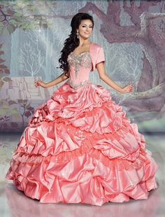 Sleeping Beauty inspired gown from Disney Royal Ball Style Number 41073 coming soon to Dresses By Russo. #dressesbyrusso #quinceanera #dress #disneyroyalball