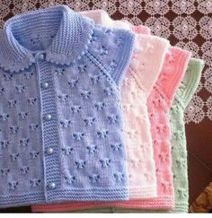 Lace baby jacket (knit with cr