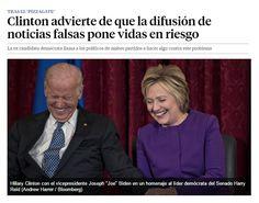 Clinton advierte de que la difusión de noticias falsas pone vidas en riesgo / @LaVanguardia | #socialmedia