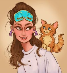 Holly and Cat by DylanBonner - Audrey Hepburn in Breakfast at Tiffany's