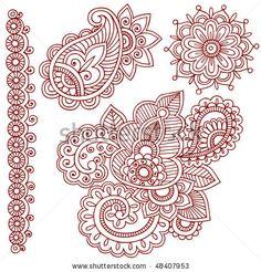 stock-vector-hand-drawn-abstract-henna-mehndi-paisley-doodle-vector-illustration-design-elements-48407953.jpg (450×470)