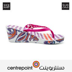 Multi-coloured flip-flops for the summer available at Centrepoint.