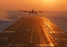 DC6 takes off at Kotzebue Alaska