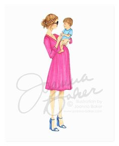 Chic Momma Fashion Art Print