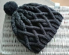 Free cable knit hat pattern via Ravelry