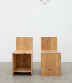 Donald Judd chairs.