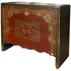19th Century China Painted Coffer | From a unique collection of antique and modern sideboards at http://www.1stdibs.com/furniture/storage-case-pieces/sideboards/