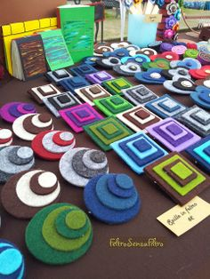 #felt #brooches #brooch - #spille in #feltro