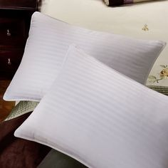 Shop for Tommy Bahama Damask Stripe 650 Fill Power French Down Pillow. Get free delivery On EVERYTHING* Overstock - Your Online Bedding Basics Store! Down Pillows, Bed Pillows, Bedding Basics, Beds Online, Tommy Bahama, Damask, Pillow Cases, Fill, French