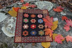 Repro Quilt Lover: More Doll quilts  sweet hexies.