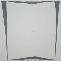 """Amy Feldman Physical Grey, 2013 80"""" x 80"""", acrylic on canvas"""