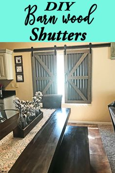 DIY Barndoor Window Shutters | Barnwood + Galvanized Steel