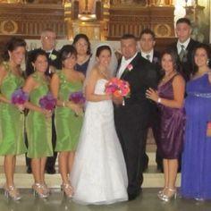 Green & purple wedding colors!