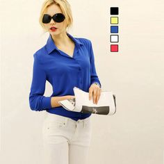 New Chiffon Casual Blouse Dress Shirts vetement femme Tops Clothing Lady Beauty Sleeve High Quality