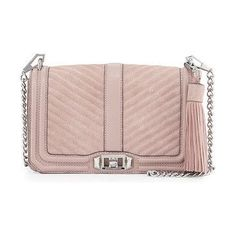 baby pink siede quilted shoulder chain strap bag