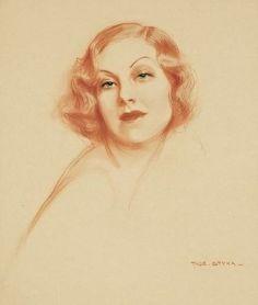 Tadeusz Styka - Portrait Of A Woman (1930)