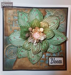 These beautiful Dies and Stamps lend themselves to mixed media but also for our cards, journals and the like. There are stencils in this c. Flower Stamp, Flower Cards, Paper Flowers, Sheena Douglass, Graph Paper, Crafters Companion, Card Tags, Small Flowers, Cardmaking
